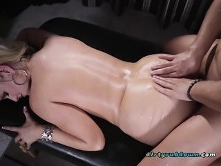 Oiled Up Slut Alena Croft Receives Anal Drilling