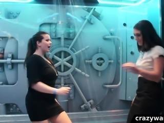 Wetlook girls dancing in the shower room 3