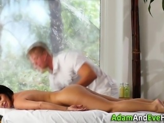 Busty milf spunked over