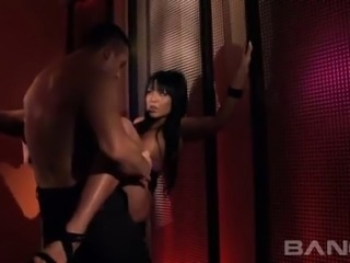 Stunning black haired slut with big tits Angelica Heart gets fucked in mish and flying poses gently