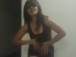 Solo indian amateur dancing in the bedroom