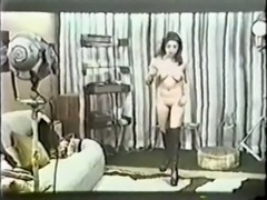 Brunette old style busty milf blows and bounces on a dick