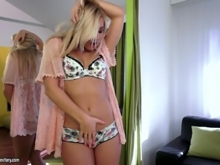 Tracy tosses away bra and panties to melt away in the ecstasy of anal and vaginal stimulation