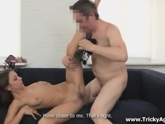 She auditions for a porn movie and has to fuck the producer first