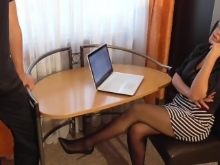 Secretary fucking in the office (Jacky Lawless)