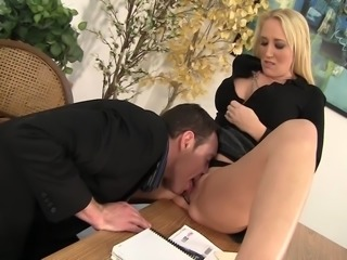 MILF Boss Alana Evans Bent Over The Desk