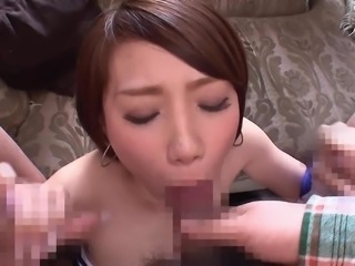 Some girls never feel satisfied with just one man! This Japanese girl allowed...