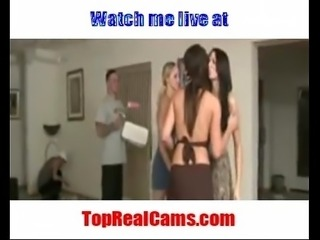 Live Fully clothed groupsex on TopRealCams.com