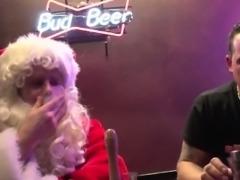 Real hooker fucks santa