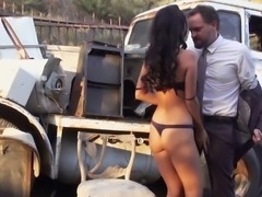 Good-looking woman will do anything for a handsome hunk's cock