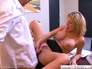 Big boobed secretary Velicity Von is having some steamy sex at work