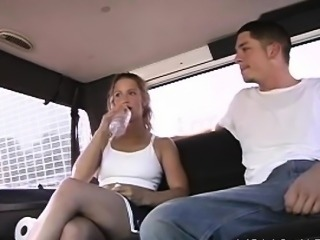 Dirty-minded honey acquires picked up and shamed in a bus
