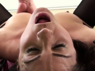 Throated submissive swallows maledoms jizz