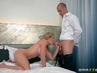 Cory Chase was so horny that only a big dick could satisfy her starving...