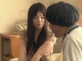 I pulled Tsuna's panties up into her hairy crotch and she squirmed and moaned, as my fingers gently caresses her hirsute vagina. She was dripping wet and waiting for me to fuck her so hard in her beautiful Japanese pussy.