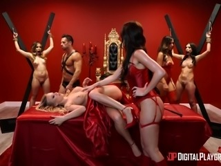 So much crazy sex happens in this mistresses Pleasure dungeon. She has one...