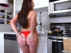 Busty maid Angela White surprised her boyfriend, by dropping her clothes in...