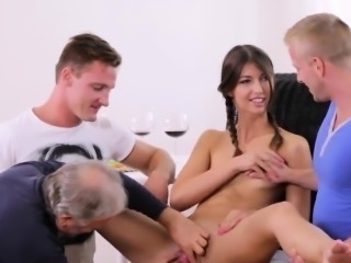 Bf assists with hymen examination and shagging of virgin cut
