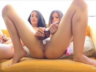 Good friends Lana and Stella adore masturbating side by side