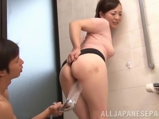 Kinky mature Asian babe can't resist this younger stud's cock