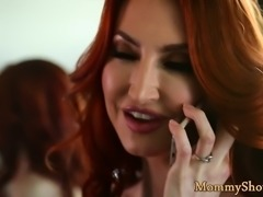 Redhead stepmom fingered by her stepdaughter