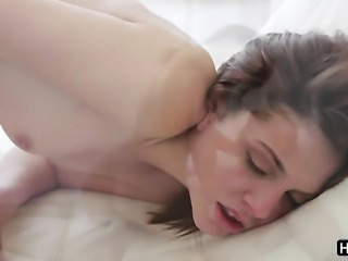 Johnny Sins makes his rock hard schlong disappear in sex crazed Kiera Winterss mouth