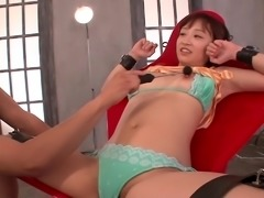 Her legs were open and this petite Japanese cutie was waiting for me to...