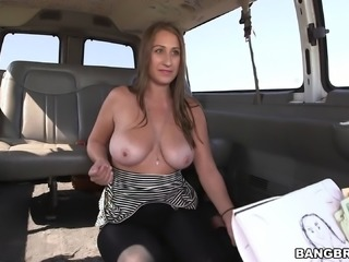 Skyler Luv's shaved pussy gets pounded with a naughty and hot horny stud