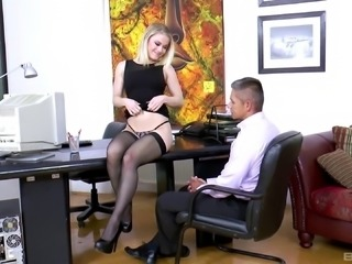 Ash Hollywood is a horny office worker who loves to fuck