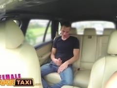 FemaleFakeTaxi Busty blonde rides studs cock