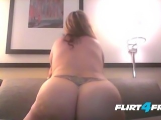 BBW Blonde Goddess with Humongous Tits Fucks a Dildo