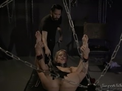 She's in the dungeon and the master will make her feel pleasure and pain. He...