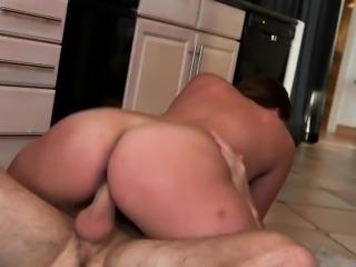 Busty milf Skyler gets pounded on kitchen floor