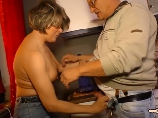 Kinky GILF Katey loved being pounded with her man's hard boner