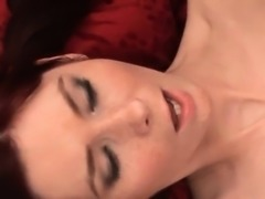 Ideal chick is gaping juicy vulva in close up and climaxing