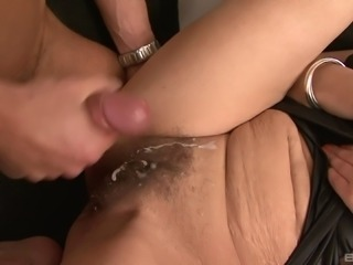 Granny gets a good, hard dicking then hits the shower
