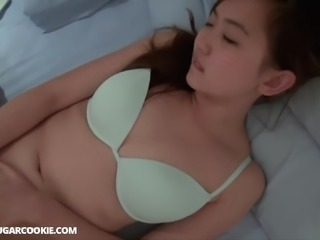 Naughty girl enjoys masturbating with a buzzing love toy