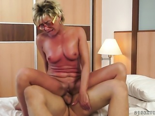 Milf has some dirty sex fantasies to be fulfilled in cumshot action
