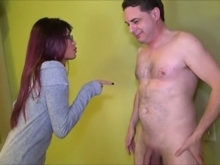 Mistress Asia Perez kicks brutally in the balls Andrea Dipre