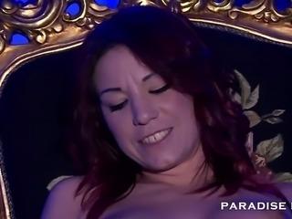 German Redhead babe cumming