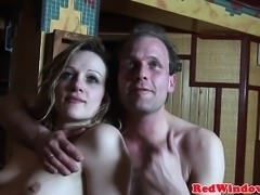 Dutch real hooker creampied by tourist