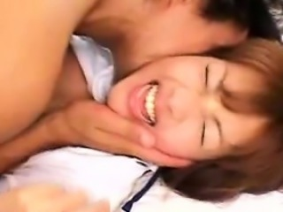 Attractive Asian schoolgirl has a thick cock hitting the ri