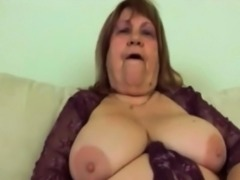 Fat granny Dominika drilled by younger long dong