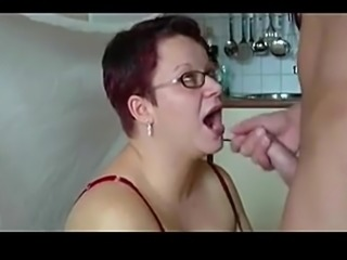 BBW in Glasses Facial Cumshot Compilation