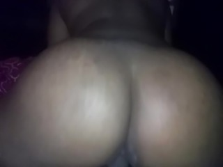 22yr old 47 inch booty riding and twerking on my dick 2 (bed action)