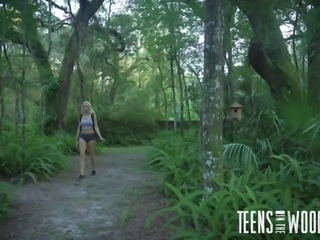 She loves to hike out in the woods and she didn't even notice another hot chick sucking off her boyfriend, as she walked by. When she met a stranger out in the woods, she was invited back to his place, where they could fuck.