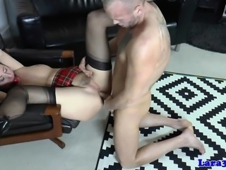 Gagged mature brit assfucked after doggystyle