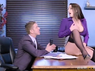When Angela White entered my office, it became clear for me that from this moment on it will be no more time for working, but just for fucking. Her huge tits and big round ass were promising me endless pleasures and... I was not disappointed. Relax and enjoy impetuous sex action right on the working place!