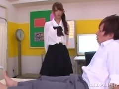 Naughty Japanese College Girl Drilled by Her Professor