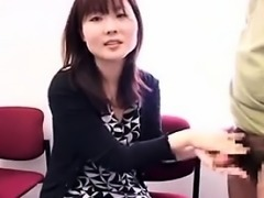 Adorable Asian girls bringing hard sticks to orgasm with th